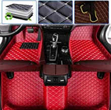 Custom Car Floor Mats for Chevy Chevrolet Tahoe 2007-2014, 2015-2019 Luxury Leather Waterproof Anti-Skid Full Coverage Liner Front & Rear Mat/Set (red)
