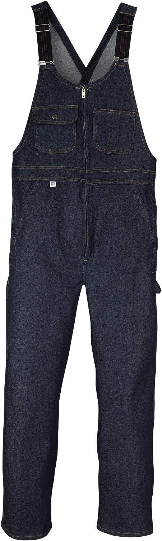 Big Bill Workwear Men's 92 Denim Bib Overall with Zip Front Closure