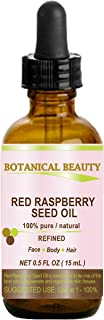 RED RASPBERRY SEED OIL. 100% Pure / Natural / Undiluted / Refined Cold Pressed Carrier Oil. 0.5 Fl.oz.-15 ml. For Skin, Ha...