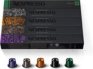 Nespresso Capsules OriginalLine,Ispirazione Best Seller Variety Pack, Medium & Dark Roast Espresso Coffee, 50 Count Espresso Coffee Pods, Brews 1.35oz