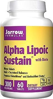 Jarrow Formulas Alpha Lipoic Sustain, Promotes Glutathione* & Antioxidant Status*, 300mg, 60 tabs