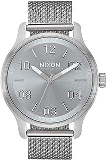 NIXON Patrol A1242 - ساعة تناظرية كلاسيكية مقاومة للماء 100 متر (ساعة وجه 42 مم، 21 مم - 19 مم بسوار من الستانلس ستيل)