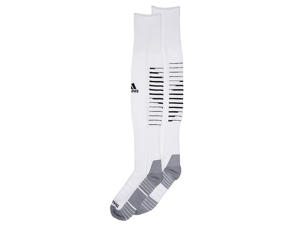 adidas Kids Team Speed II Soccer OTC Sock (Toddler/Little Kid) (White/Black/Light Onix) Kids Shoes