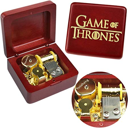 Game of Thrones Music Box Wood Music Box Musical Boxes Case Musical Gift Birthday Gift for Kids Office Home