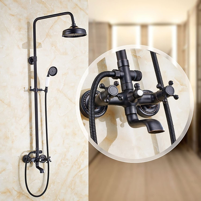 Edge to Dusche Schwarze antike Duschkombination European Shower Düse Set Vollstndige Kupfer Wasserhahn Dusche