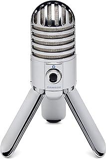 Samson Meteor Mic - Portable USB Studio Condenser Microphone - Chrome, SAMTR