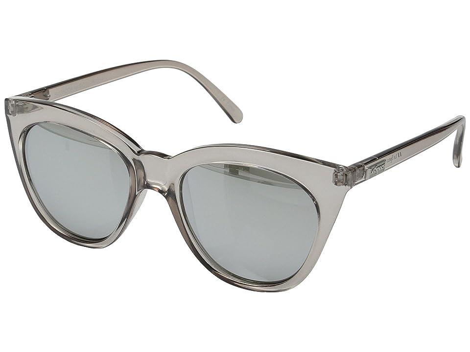 Le Specs Halfmoon Magic (Stone/Smoke Mono/Silver Mirror) Fashion Sunglasses