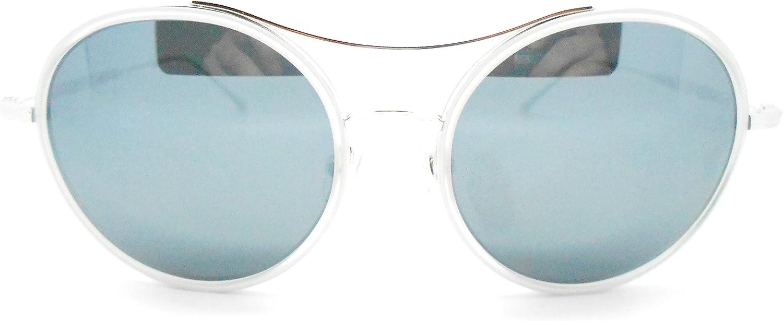 Matsuda M3050 Round Polladium White Sunglasses