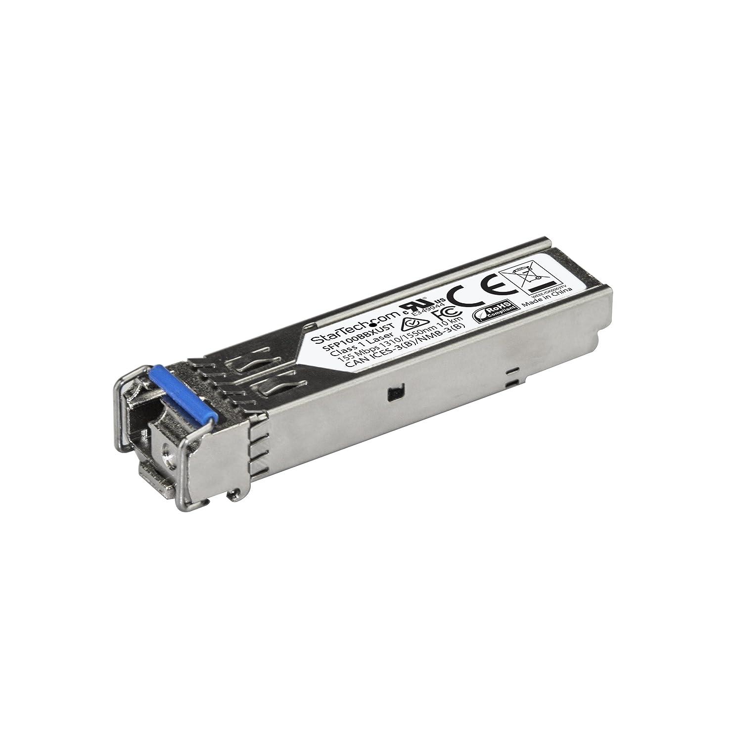 物語にもかかわらず自分の力ですべてをするStarTech.com SFPモジュール 100BASE-BX MSA準拠 アップストリーム LCコネクタ 光ファイバトランシーバ ライフタイム保証 1Gbps SFP100BBXUST