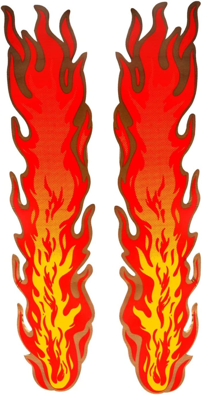 ZYHW Flames Decal Reflective Sticker for Motorcycle Cars Trucks Laptops Etc Size 13.5 X 3.1inch