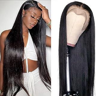 Straight Lace Front Wigs Human Hair 18 Inch 13x4 Glueless Lace Frontal Brazilian Virgin Human Hair Wigs for Black Women pr...