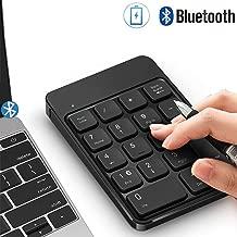 Bluetooth Number Pad, Wireless Numeric Keypad - Lekvey Rechargeable Slim 18-Key Number Keypad Keyboard Compatible for MacBook, iMac, OS, Windows, Laptop, PC Surface Pro, etc