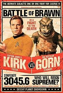 Picture Peddler Laminated Star Trek Poster - Captain Kirk vs The Reptilian Gorn 24x36 inches
