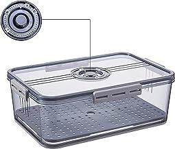 YAYANG Voedselopslag Container-Fridge Produce Saver Container, Koelkast Organizer Bins Blijf vers, met Verwijderbare Afvoe...