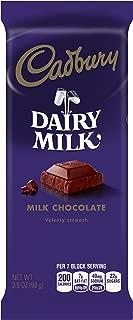 CADBURY DAIRY MILK Chocolate Bar, 3.5 Ounce