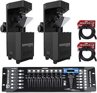 (2) Chauvet Intimidator Scan 110 Compact Scanner Effect Lights+DMX Controller