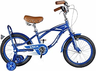 """Vaux Bicycle for Kids- Vaux Beach Cruiser European Fashion 16T Kids Bicycle. Ideal for Cyclist with Height (3'5"""" – 4') – Blue."""