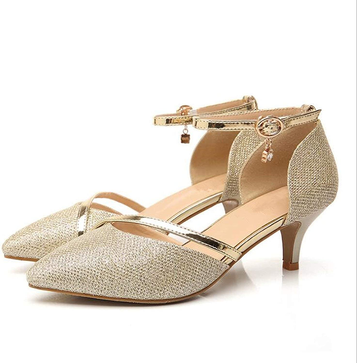High Heel gold Silver Pumps High Heels Women shoes Rhinestones Wedding Party shoes