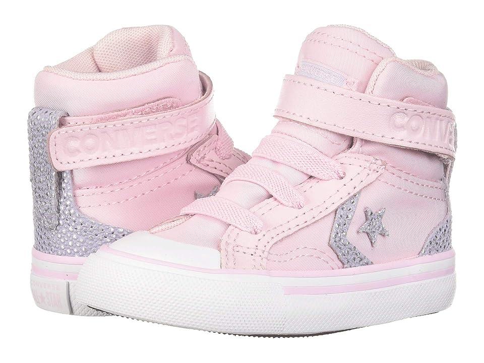 Converse Kids Pro Blaze Strap Hi (Infant/Toddler) (Pink Foam/Oxygen Purple/White) Girls Shoes