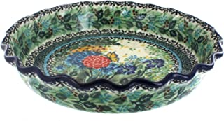 Blue Rose Polish Pottery Teresa Pie Plate