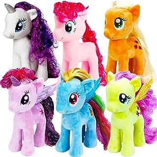 Ty My Little Pony Beanie Babies Collection -- Set of 6 Plush Dolls (Rarity, Pinkie Pie, Applejack, Fluttershy, Rainbow Dash and Twilight Sparkle) (Medium Set)
