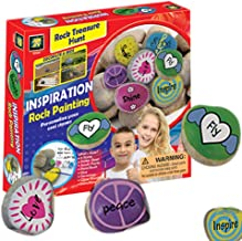 AMAV Toyss Inspiration Rock Painting Set - All Supplies Included Kit - Non-Toxic Acrylic Paint- Hide Your DIY Rock Painting & Surprise Your Community - Perfect Screen-Free & Group Activity For Kids AG