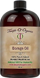 Borage Seed Oil - 100% Pure, Unrefined, Cold Pressed, Non-GMO, Fair Trade, Organic Sourced, Extra Virgin Carrier Oil - 16 ...
