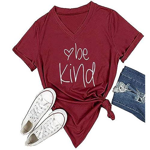 SELECTEES Women Friends V-neck T Shirts Graphic Teen Girls Cute Tops