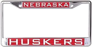 WinCraft NCAA Nebraska Cornhuskers Inlaid Metal License Plate Frame, 2-Tag Corners