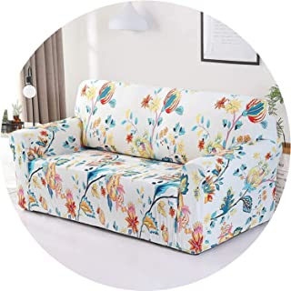 Little Happiness- Floral Sofa Cover Slipcovers Elastic Stretch Tight Wrap All-Inclusive Sofa Couch Cover Towel Furniture Protector 1/2/3/4 Seater,Color 8,4-Seater 235-300cm