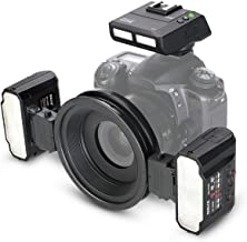 Meike MK-MT24 2.4G Wireless Close-Up Speedlight Macro Twin Lite Flash for Nikon F-Mount Z-Mont Digital SLR Cameras D1X D2 D2H D2X D3 D3X D200 D300 D300S D700 Z6 Z7,etc
