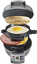 همیلتون ساحل 25478 ساندویچ ساز صبحانه با تایمر، نقره ای