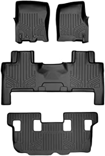 MAXLINER Floor Mats 3 Row Liner Set Black for 2011-2017 Expedition/Navigator with 2nd Row Bench Seat Or Console (No EL or L Models)