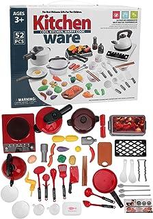 38Pcs Pretend Play Kitchen Set | Kitchen Cookware Playset Toys | Cookware Pots Frying Pan Induction Cooker Vegetables Educ...