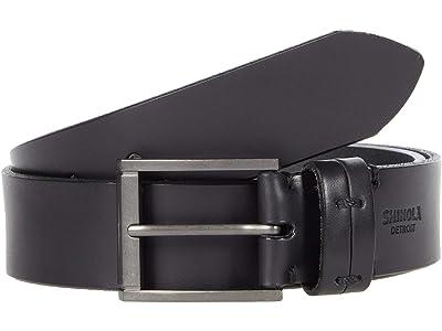 Shinola Detroit 1 1/2 Double Keeper Belt (Black) Men