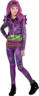 Disney Descendants 2 Mal Costume for Girls, Includes a Jacket, Tank Top, Leggings, and a Glove