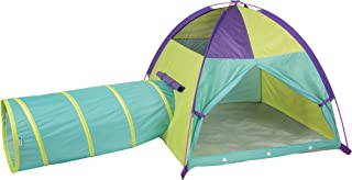 """Pacific Play Tents 20418 Neon Hide-Me Dome Tent and Tunnel Combo, Play Tent 48"""" x 48"""" x 42"""" High - Tunnel 4' x 19"""" Diameter"""