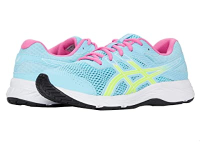 ASICS Kids GEL-Contend 6 (Little Kid/Big Kid) (Ocean Decay/Safety Yellow) Girl