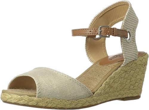 Lucky Brand Kyndra Toile Sandales Compensés, Natural-Platinum, Natural-Platinum, 39.5 EU  achats en ligne et magasin de mode