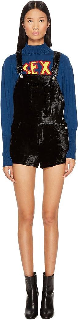 Velvet Overalls Jumpsuit