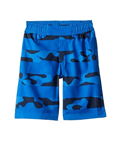Columbia Kids Sandy Shorestm Boardshorts (Little Kids/Big Kids) (Super Blue Camo Stripe/Super Blue) Boy