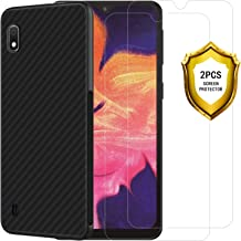 EJBOTH Tempered Glass for Samsung Galaxy A10 Screen Protector and Samsung Galaxy A10 Case Cover Black with [Replacements Warranty][Easy to Apply][Ultra-Thin][No Bubbles] 【2 Screen Protector+ 1 case】