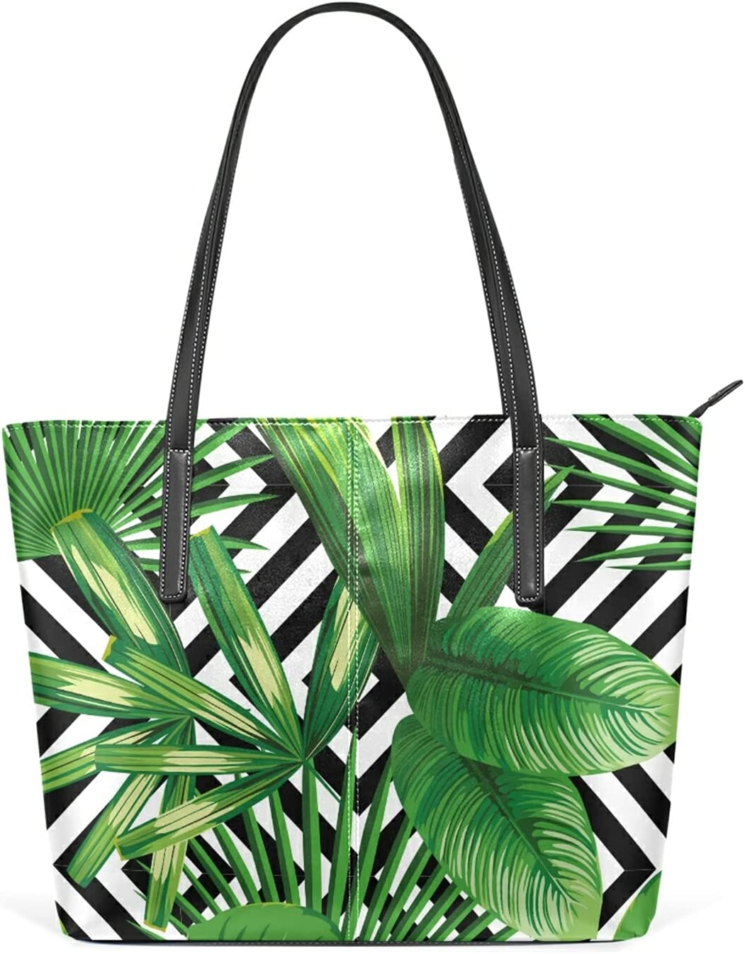 gift Palm Leaves Jungle Plant Handbags Rare Crossbod Leather Shoulder Bags