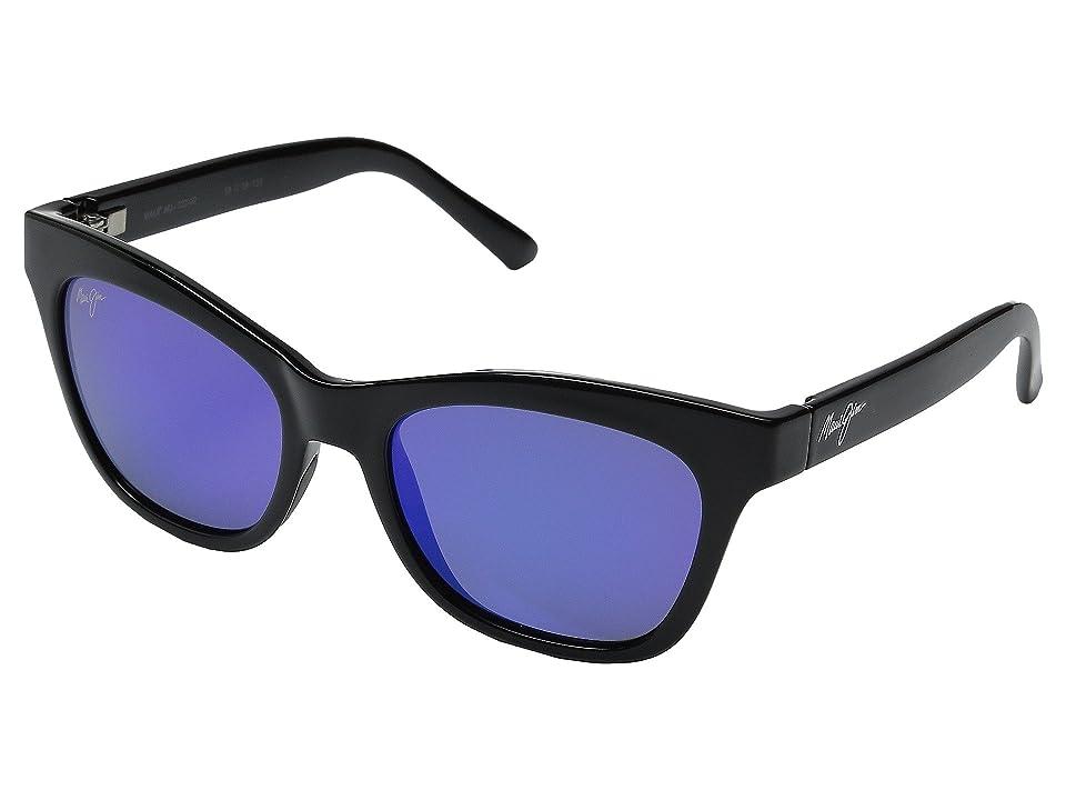 Maui Jim Sweet Leilani (Gloss Black/Blue Hawaii) Fashion Sunglasses