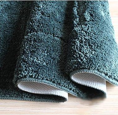 DSAQAO Antideslizante Shag Textura Mat para el Cuarto de baño, Lavable Suave Estera de meditación Household Rug Absorbente de