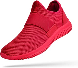 Troadlop Mens Sneakers Slip on Laceless Tennis Shoes Knitted Running Walking Athletic Shoes