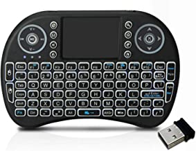 $22 » ROSEBEAR 2.4GHz Wireless Keyboard, Handheld QWERTY Keyboard with Touchpad Mouse Combo for Android TV Box Smart TV