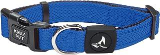KRUZ PET KZA102-02M Mesh Dog Collar for Small, Medium, Large Dogs, Adjustable Neck Collar, Soft, Lightweight, Breathable, ...