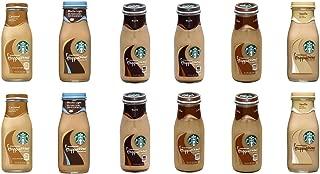 LUV BOX - Starbucks Frappuccino Variety Pack 9.5 oz Glass Bottle, 12 Per Case, Mocha, Vanilla, Caramel, Coffee, Mocha Light