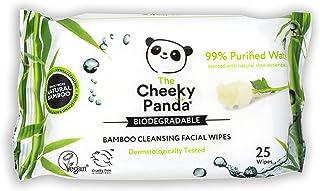 The Cheeky Panda – Gezichtsdoekjes, Rose Geurend | Pack van 25 doekjes | Make-up Remover, hypoallergeen, milieuvriendelij...